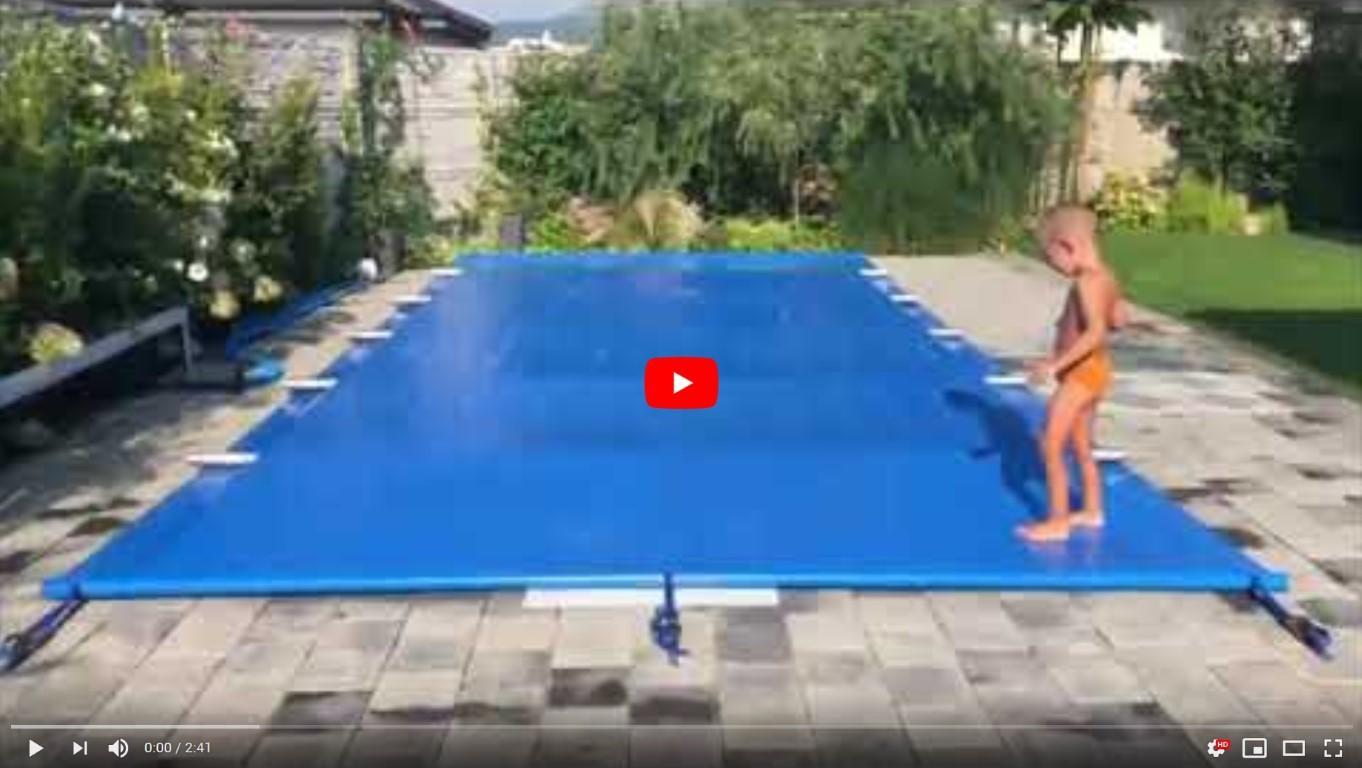 video plachta na bazén