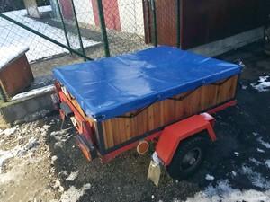 obj 358 plachta na drevený vozík