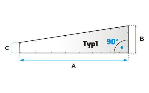 Šikmá plachta typ 1