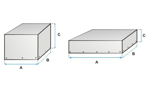 Plachty v tvare kocky / kvádra