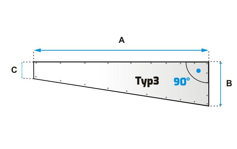 Šikmá plachta typ 3